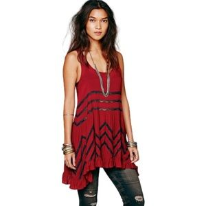 Free People | Lace & Voile Trapeze Dress